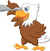 Eagle cartoon watching