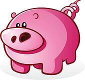 Pig Piglet Cartoon Character Illust