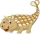Cute dinosaur ankylosaurus cartoon