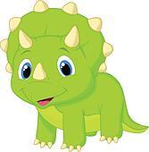 Cute baby triceratops cartoon