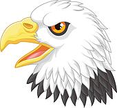 Cartoon Eagle head mascot