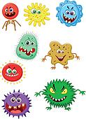 Virus cartoon collection set