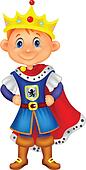 Cute boy cartoon with king costume