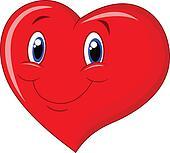 Red heart cartoon