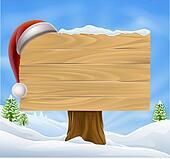 Snow Landscape Christmas Santa Hat