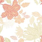 Seamless wallpaper pattern with floral elements for design