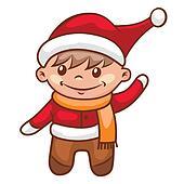 little santa boy