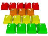 Happy new year 2014 - pc keys
