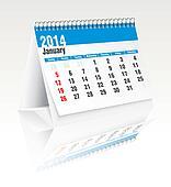 january 2014 desk calendar