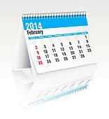 february 2014 desk calendar