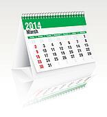 march 2014 desk calendar
