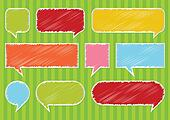 Colorful speech bubbles and balloons vector
