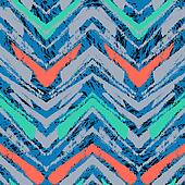 Hand drawn pattern with brushed zigzag line.