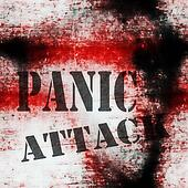 concept panic attack grungy wall