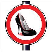 Stiletto Road Sign