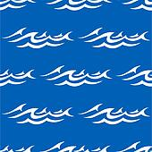 Seamless pattern with water waves