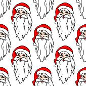 Seamless pattern with funny Santa