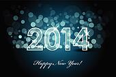 2014 - New year background