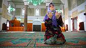 Muslim girl praying