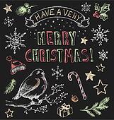 Vintage Christmas Chalkboard Set