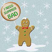 cold gingerbread man