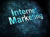 Marketing concept: Internet Marketing on digital background