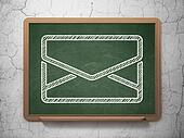 Business concept: Email on chalkboard background