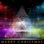 Wonderful Christmas tree background design illustration
