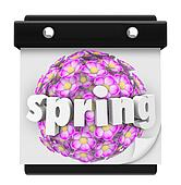Spring Word Calendar Flowers Bloom Time Plant Grow