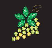 Gem Grape With Leaf