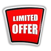 limited offer on red banner