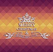 Merry Christmas colorful geometric greeting card