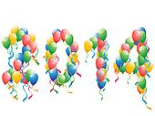 2014 new year balloons background