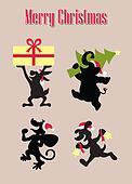 Christmas Animal Silhouettes