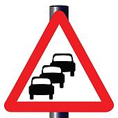 Queuing Traffic Sign