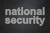 Safety concept: National Security on chalkboard background
