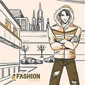 Series Urban fashion. Autumn, winter.