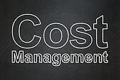 Finance concept: Cost Management on chalkboard background