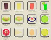 Vintage look Food and drink icons