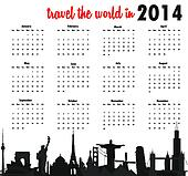 Travel the world in 2014 calendar