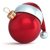Christmas ball New Year bauble red