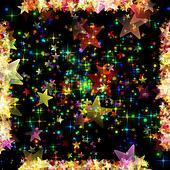 Wonderful Christmas background design illustration with glowing stars