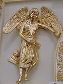 Golden angel figurine church decoration