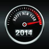 Happy New Year 2014 Speedometer
