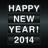 Happy New Year 2014 Odometer Backgr