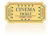 cinema ticket illustration