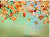Thanksgiving card, beautiful maple leaves. EPS 10