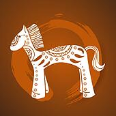 Chinese New Year of the Horse illustration