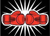 boxing gloves strike