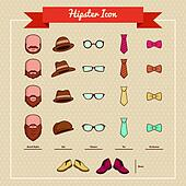 Hipsters icons